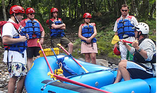 Participant's safety is essential in any rafting trip to ensure a really pleasant time